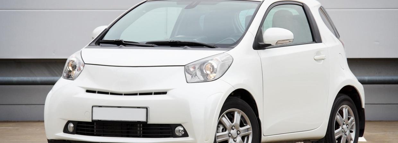 klein wit autootje