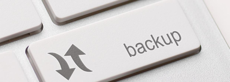 Toetsenbord met een back up toets