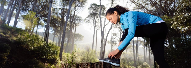 Jogger in het bos